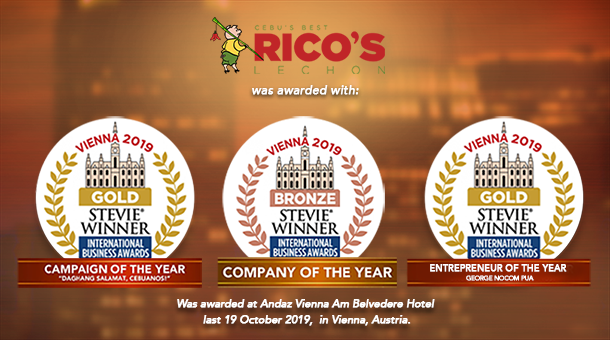 Rico's Lechon wins GOLD Company of The Year and BRONZE PR Campaign of The Year